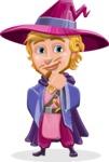 Sorcerer Cartoon Vector Character AKA Magnus the Great Enchanter - Patient