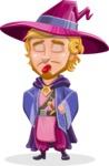 Sorcerer Cartoon Vector Character AKA Magnus the Great Enchanter - Making Face