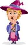 Sorcerer Cartoon Vector Character AKA Magnus the Great Enchanter - Bored 1