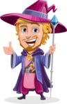 Sorcerer Cartoon Vector Character AKA Magnus the Great Enchanter - Thumbs Up
