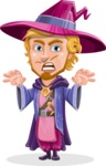 Sorcerer Cartoon Vector Character AKA Magnus the Great Enchanter - Scary
