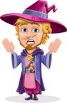 Sorcerer Cartoon Vector Character AKA Magnus the Great Enchanter - Scared 1