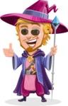 Sorcerer Cartoon Vector Character AKA Magnus the Great Enchanter - Sunglasses