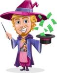 Sorcerer Cartoon Vector Character AKA Magnus the Great Enchanter - Money