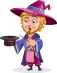 Sorcerer Cartoon Vector Character AKA Magnus the Great Enchanter - Magic 1