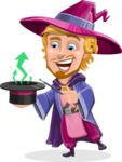 Sorcerer Cartoon Vector Character AKA Magnus the Great Enchanter - Statistics