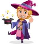 Sorcerer Cartoon Vector Character AKA Magnus the Great Enchanter - Idea