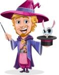 Sorcerer Cartoon Vector Character AKA Magnus the Great Enchanter - Bunny