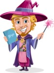 Sorcerer Cartoon Vector Character AKA Magnus the Great Enchanter - Magic 4