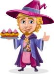 Sorcerer Cartoon Vector Character AKA Magnus the Great Enchanter - Cookies
