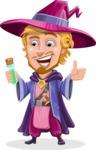 Sorcerer Cartoon Vector Character AKA Magnus the Great Enchanter - Decoction 2