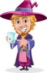 Sorcerer Cartoon Vector Character AKA Magnus the Great Enchanter - Eye in a Jam