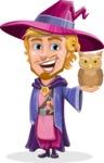 Sorcerer Cartoon Vector Character AKA Magnus the Great Enchanter - Owl