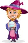 Sorcerer Cartoon Vector Character AKA Magnus the Great Enchanter - Diving