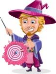 Sorcerer Cartoon Vector Character AKA Magnus the Great Enchanter - Target