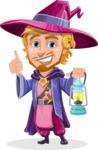 Sorcerer Cartoon Vector Character AKA Magnus the Great Enchanter - Lantern