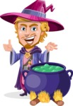 Sorcerer Cartoon Vector Character AKA Magnus the Great Enchanter - Making Decoction 1