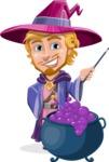Sorcerer Cartoon Vector Character AKA Magnus the Great Enchanter - Making Decoction 2