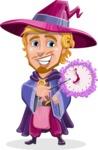 Sorcerer Cartoon Vector Character AKA Magnus the Great Enchanter - Time