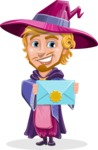 Sorcerer Cartoon Vector Character AKA Magnus the Great Enchanter - Mail