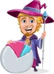 Sorcerer Cartoon Vector Character AKA Magnus the Great Enchanter - Chart