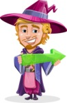 Sorcerer Cartoon Vector Character AKA Magnus the Great Enchanter - Arrow 1