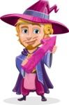 Sorcerer Cartoon Vector Character AKA Magnus the Great Enchanter - Arrow 2