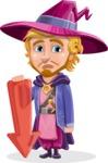Sorcerer Cartoon Vector Character AKA Magnus the Great Enchanter - Arrow 3