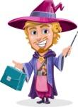 Sorcerer Cartoon Vector Character AKA Magnus the Great Enchanter - Briefcase