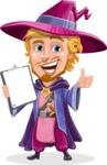 Sorcerer Cartoon Vector Character AKA Magnus the Great Enchanter - Notepad