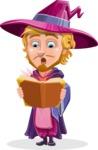 Sorcerer Cartoon Vector Character AKA Magnus the Great Enchanter - Magic Book 2