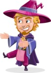 Sorcerer Cartoon Vector Character AKA Magnus the Great Enchanter - Show 2