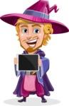 Sorcerer Cartoon Vector Character AKA Magnus the Great Enchanter - Tablet 2