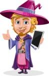 Sorcerer Cartoon Vector Character AKA Magnus the Great Enchanter - Tablet 3
