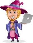Sorcerer Cartoon Vector Character AKA Magnus the Great Enchanter - Laptop 1