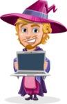 Sorcerer Cartoon Vector Character AKA Magnus the Great Enchanter - Laptop 2