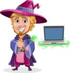 Sorcerer Cartoon Vector Character AKA Magnus the Great Enchanter - Laptop 3