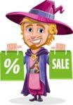 Sorcerer Cartoon Vector Character AKA Magnus the Great Enchanter - Sale 1