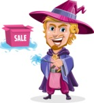Sorcerer Cartoon Vector Character AKA Magnus the Great Enchanter - Sale 2