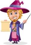 Sorcerer Cartoon Vector Character AKA Magnus the Great Enchanter - Sign 2