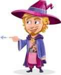 Sorcerer Cartoon Vector Character AKA Magnus the Great Enchanter - Point 1