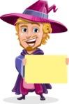 Sorcerer Cartoon Vector Character AKA Magnus the Great Enchanter - Sign 3