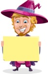 Sorcerer Cartoon Vector Character AKA Magnus the Great Enchanter - Sign 4