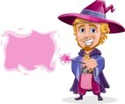 Sorcerer Cartoon Vector Character AKA Magnus the Great Enchanter - Sign 8