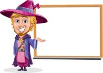 Sorcerer Cartoon Vector Character AKA Magnus the Great Enchanter - Presentation 2