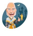 Wizard with Robe Cartoon Vector Character AKA Griffith - Shape 4