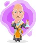 Wizard with Robe Cartoon Vector Character AKA Griffith - Shape 5
