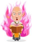 Wizard with Robe Cartoon Vector Character AKA Griffith - Shape 7