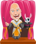 Wizard with Robe Cartoon Vector Character AKA Griffith - Shape 8