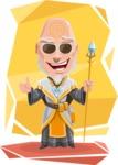 Wizard with Robe Cartoon Vector Character AKA Griffith - Shape 10